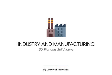 Industry and Manufacturing Premium Icon Pack