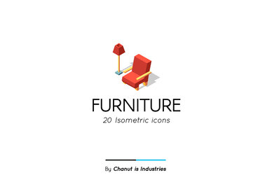 Furniture Isometric Premium Icon Pack
