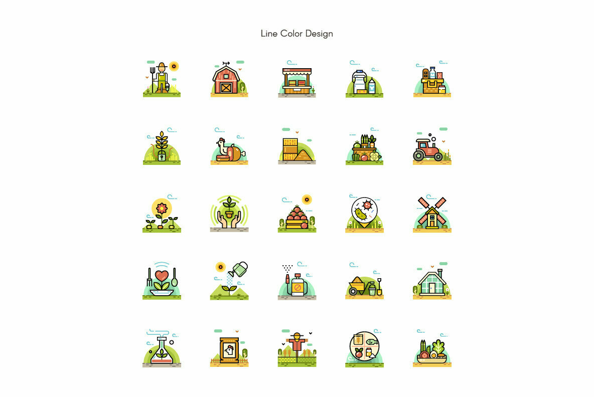 Organic Farm Premium Icon Pack