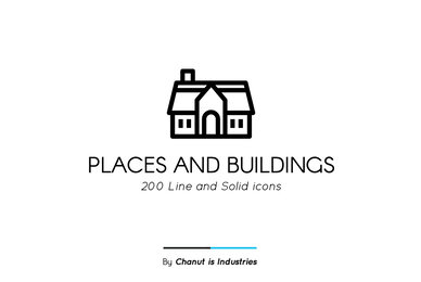 Places and Buildings Premium Icon Pack