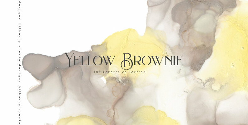 Yellow Brownie Ink Texture