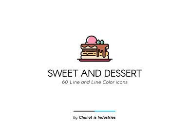 Sweet and Dessert Premium Icon Pack