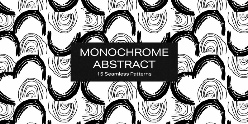 Monochrome Abstract Patterns