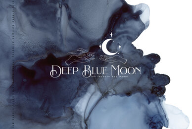 Deep Blue Moon ink texture