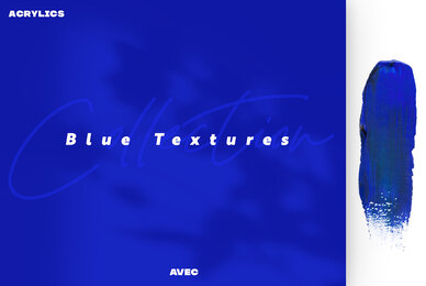 Acrylics Blue Textures Collection