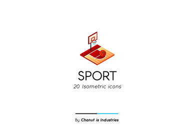 Sport Isometric Icon Pack