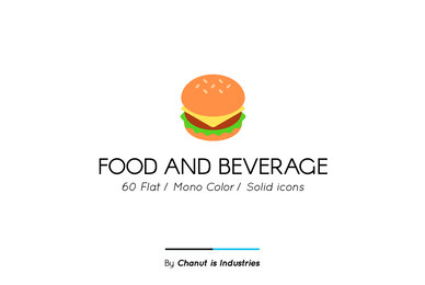 Food and Beverage Premium Icon Pack