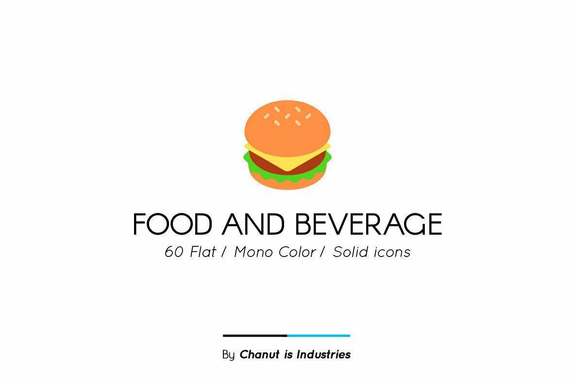 Food and Beverage Premium Icon Pack