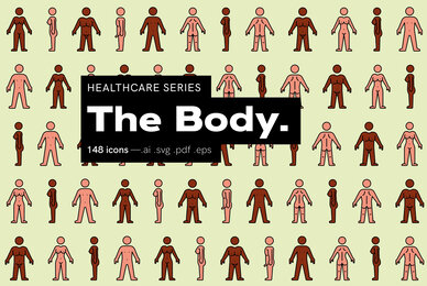 The Body   Healthcare Icons