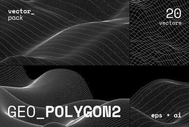 GEO POLYGON2 Vector Pack