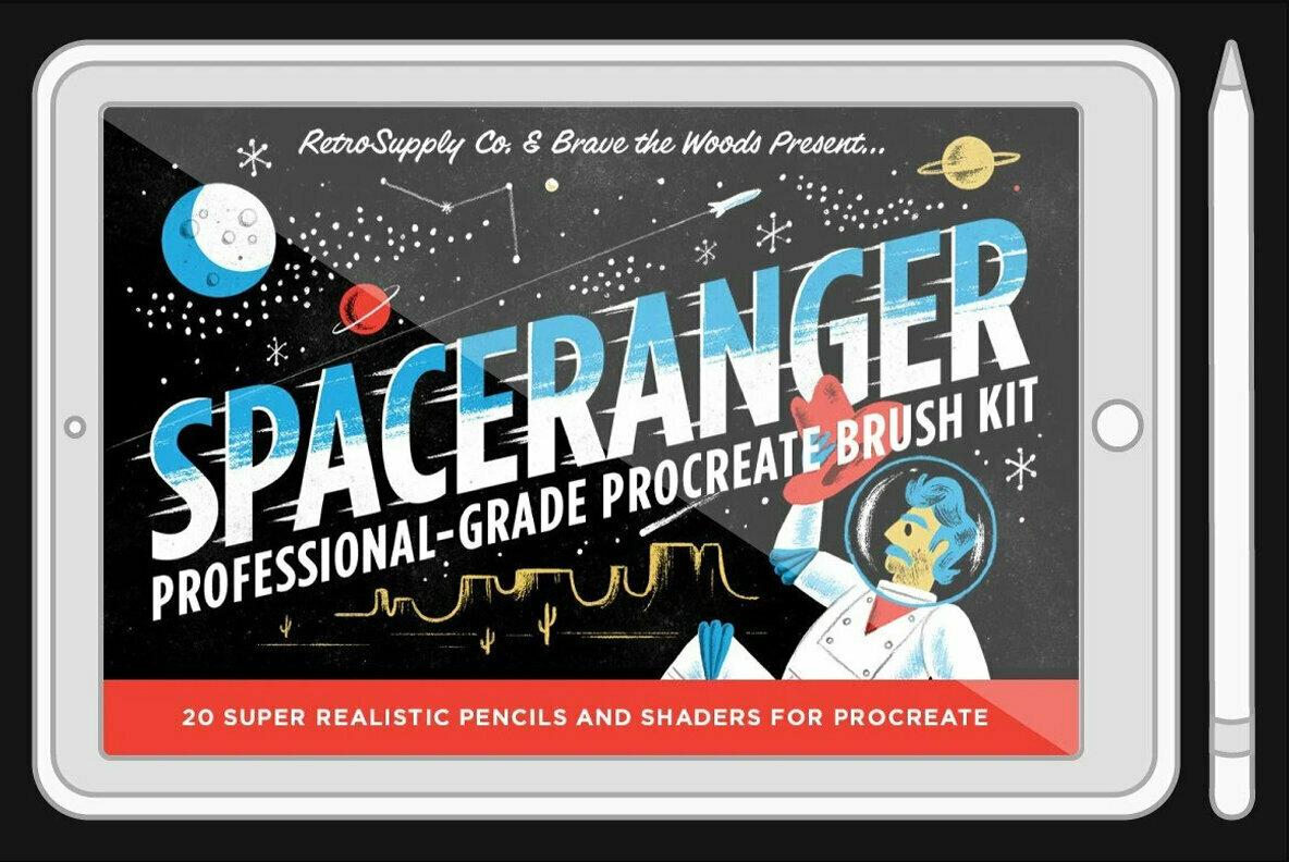 SpaceRanger Brush Pack for Procreate