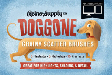 Doggone Grainy Scatter Brushes for Illustrator