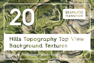 20 Hills Topography Top View Background Textures