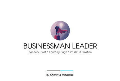 Businessman Leader Premium Illustration pack