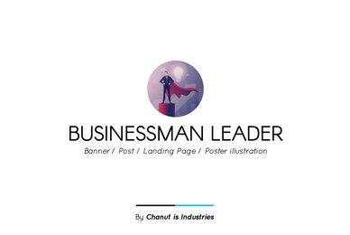 Businessman Leader Premium Illustration pack