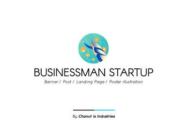 Businessman Startup Premium Illustration pack