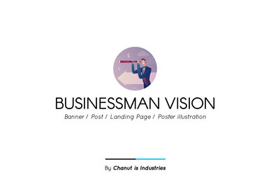 Businessman Vision Premium Illustration pack