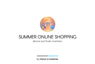 Summer Online Shopping Premium Illustration pack