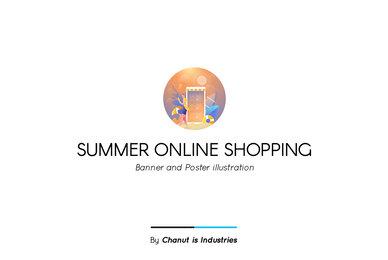 Summer Online Shopping Premium Illustration pack