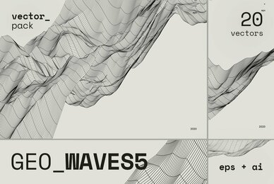 GEO WAVES5 Vector Pack