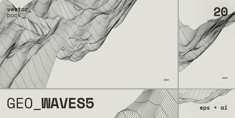 GEO WAVES5 Vector Pack