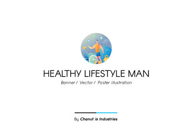 Healthy Lifestyle Man Premium Illustration pack