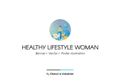 Healthy Lifestyle Woman Premium Illustration pack