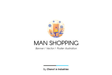 Man Shopping Premium Illustration pack