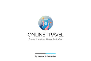 Online Travel Premium Illustration pack