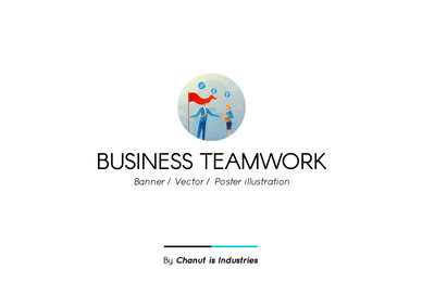 Business Teamwork Premium Illustration pack