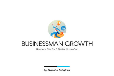 Businessman Growth Premium Illustration pack