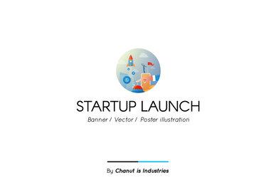 Startup Launch Premium Illustration pack