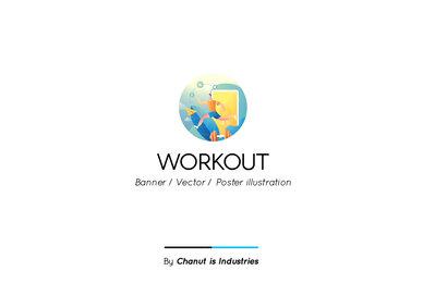 Workout Premium Illustration pack