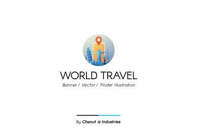 World Travel Premium Illustration pack