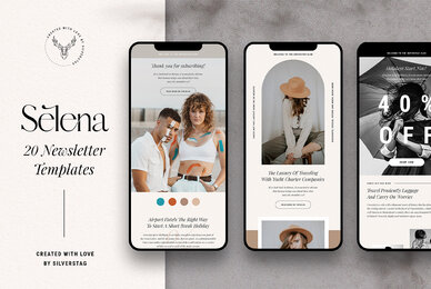 Selena   Modern Newsletter Templates