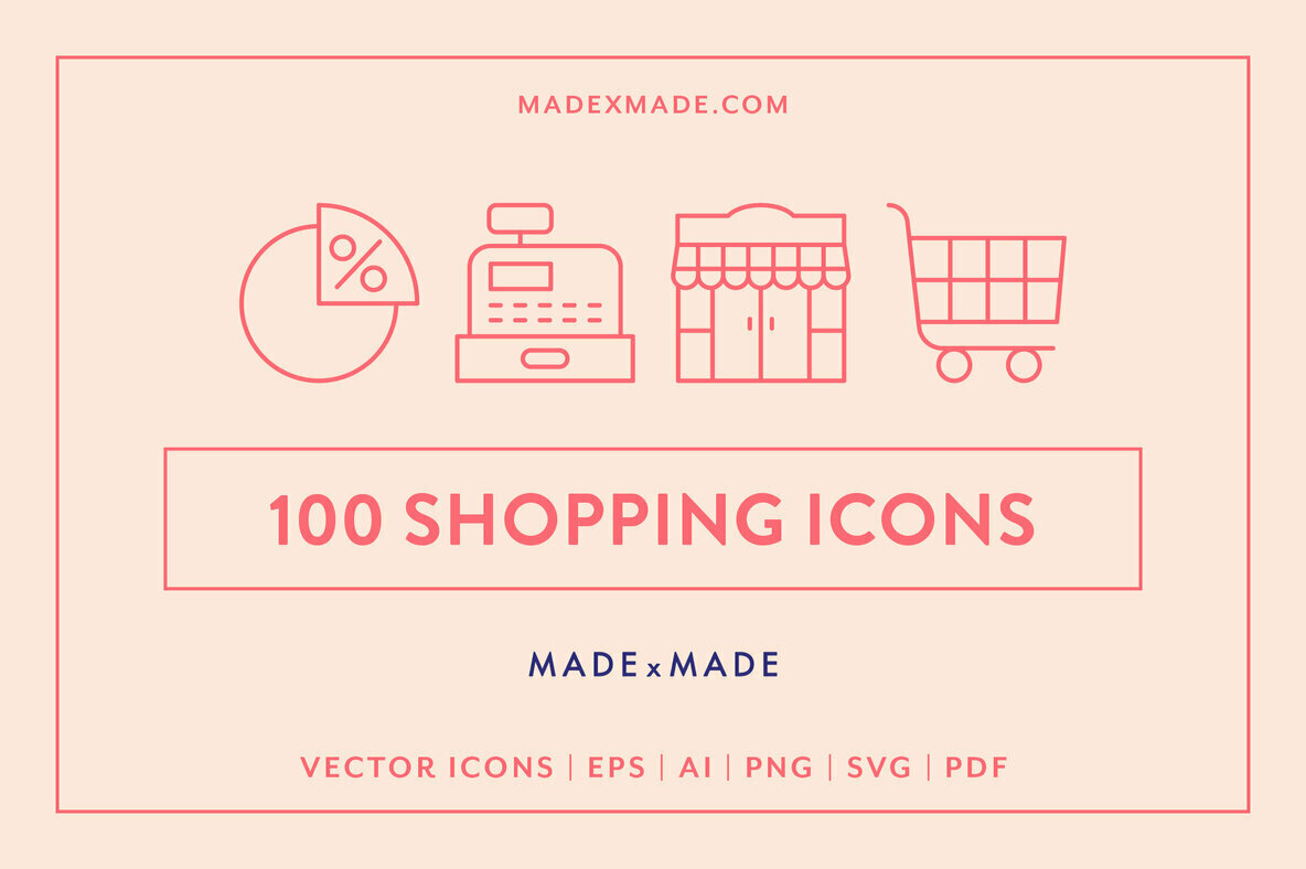 Line Icons     Shopping