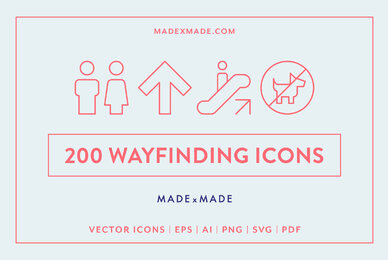 Line Icons     Wayfinding