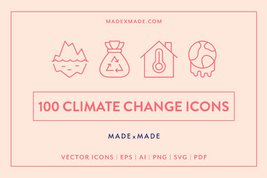 Line Icons     Climate Change