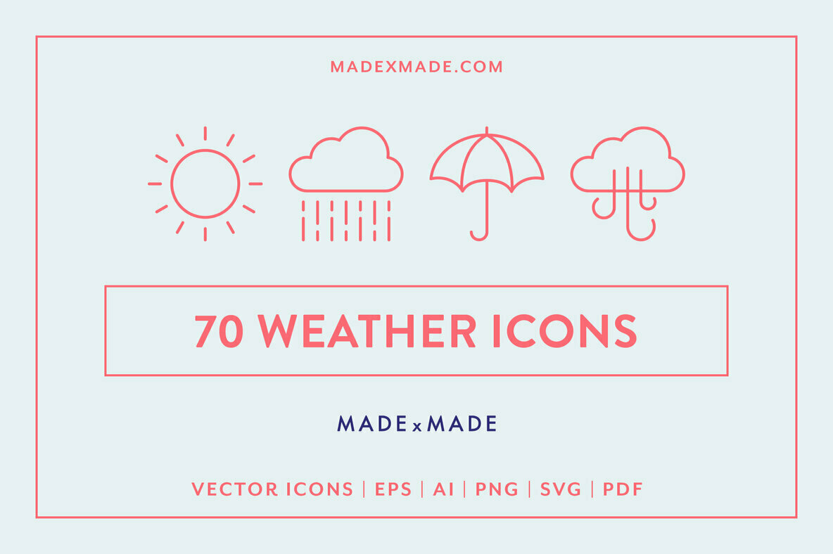 Line Icons     Weather