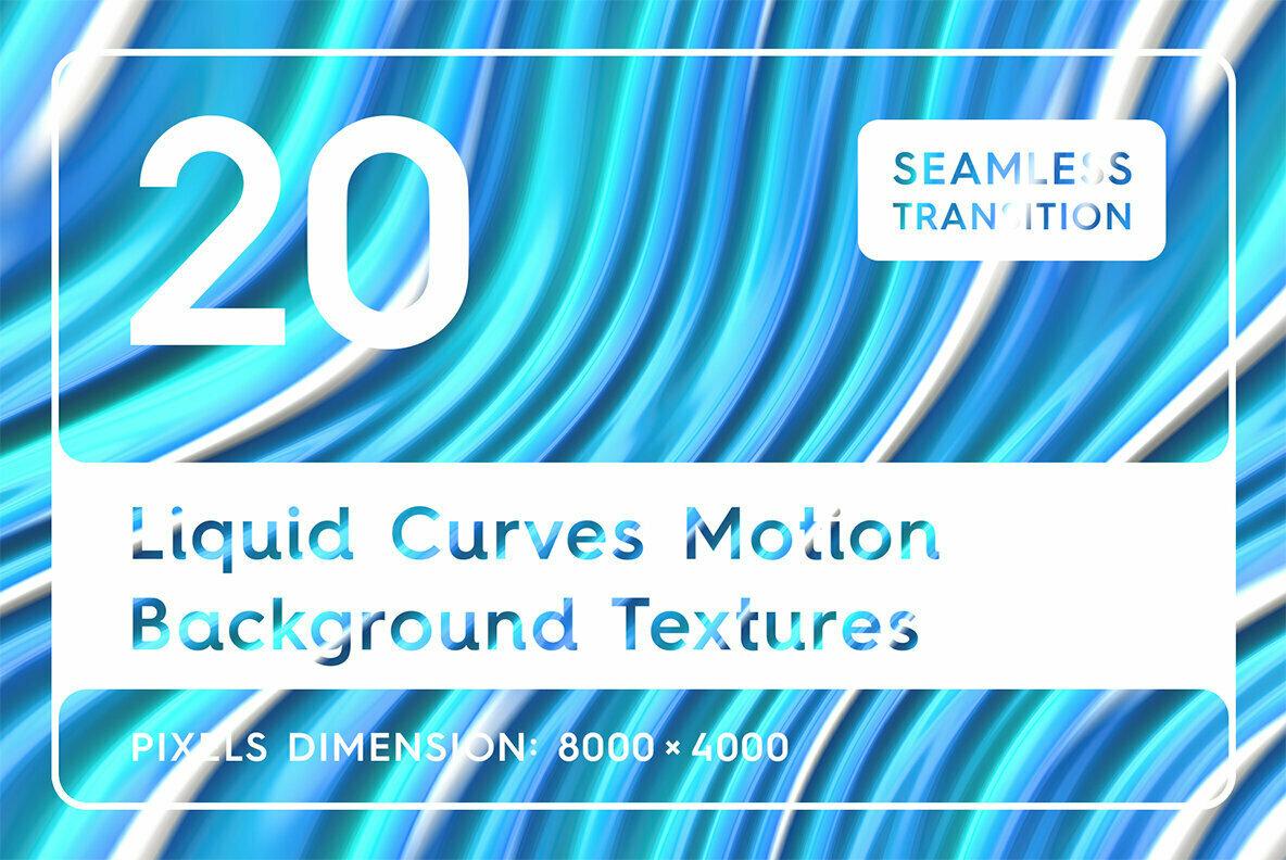 20 Liquid Curves Motion Background Textures