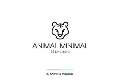 Animal Minimal Premium Icon pack