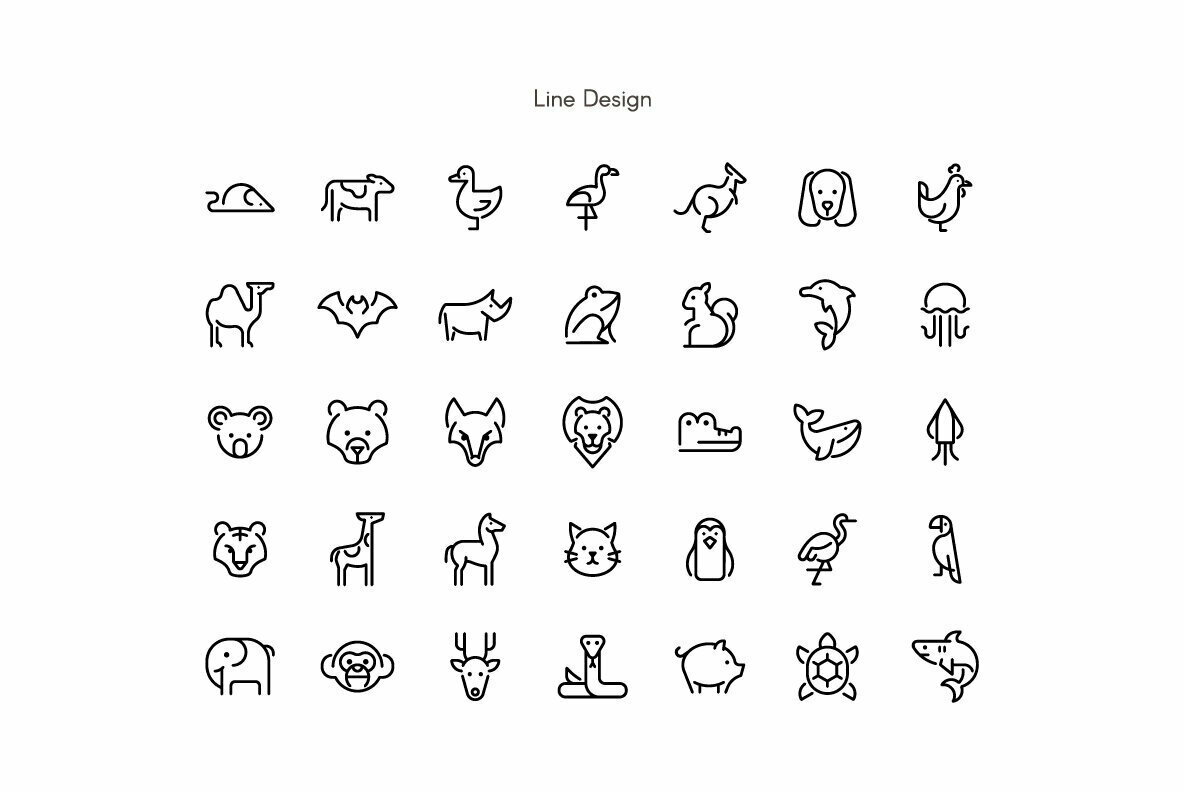 Animal Minimal Premium Icon pack