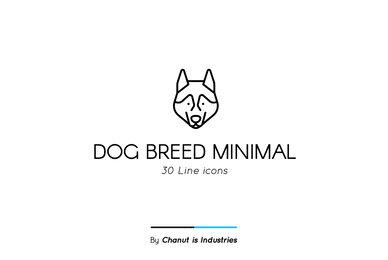 Dog Breed Minimal Premium Icon pack