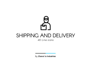 Shipping and Delivery Premium Icon pack