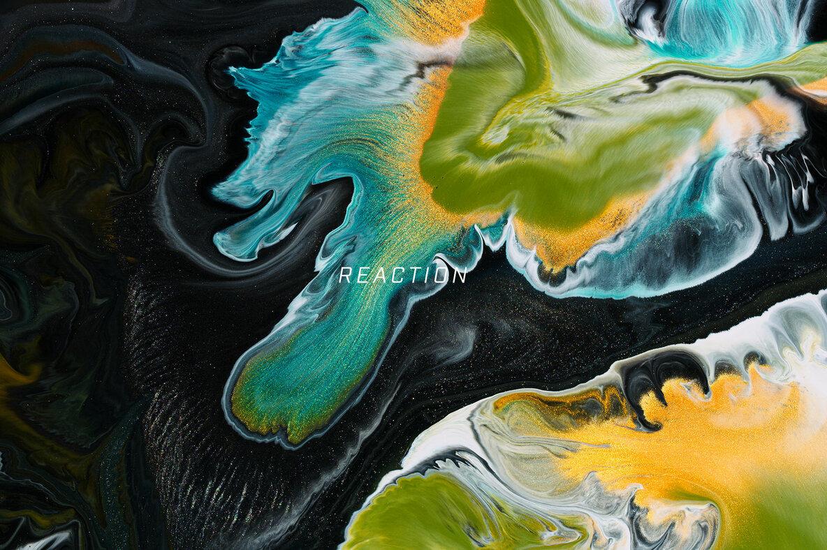 Reaction     8K Experimental Fluid Art Textures