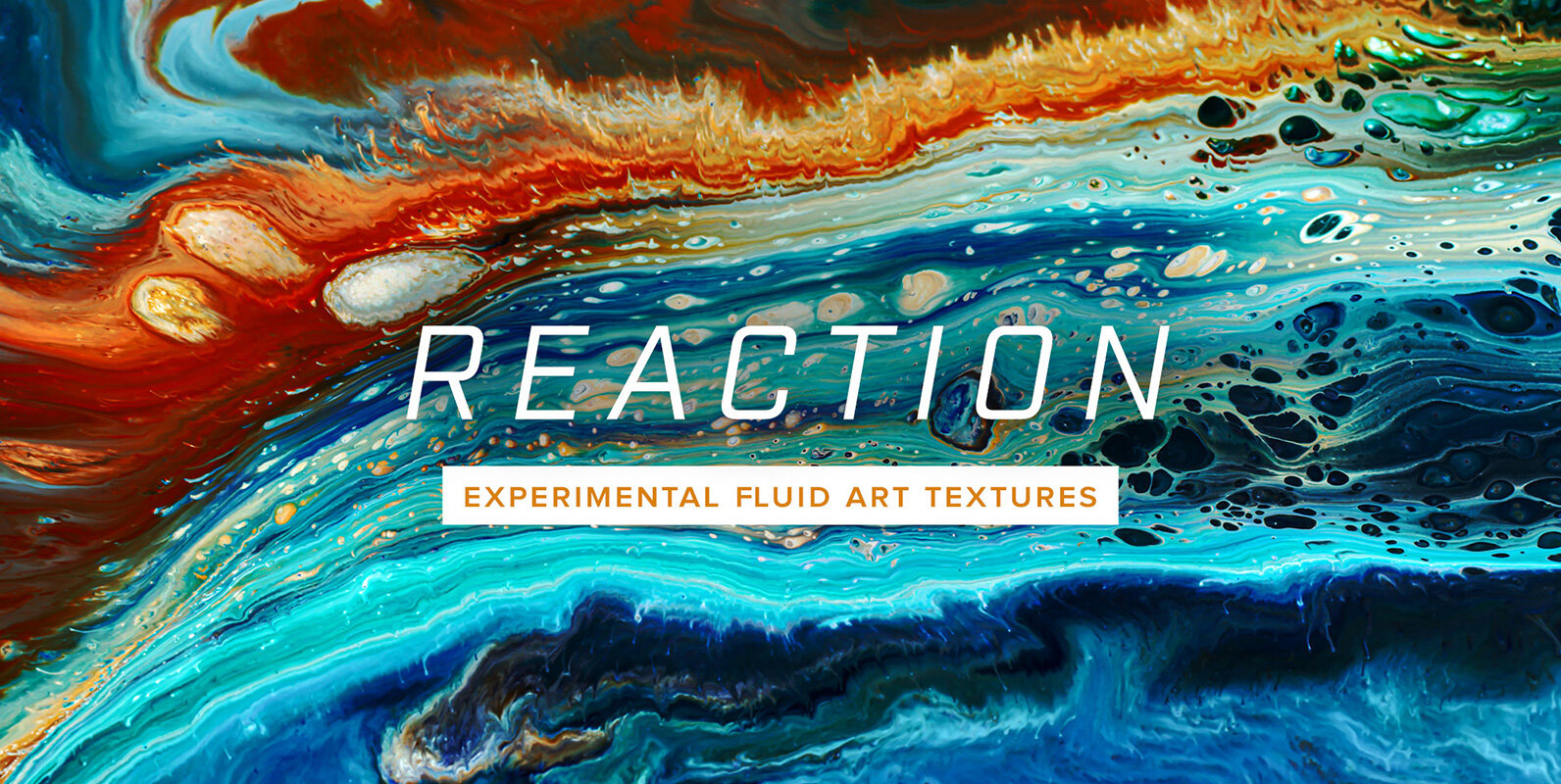 Reaction – 8K Experimental Fluid Art Textures