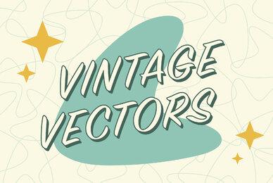 Vintage Mid Century Vector Set