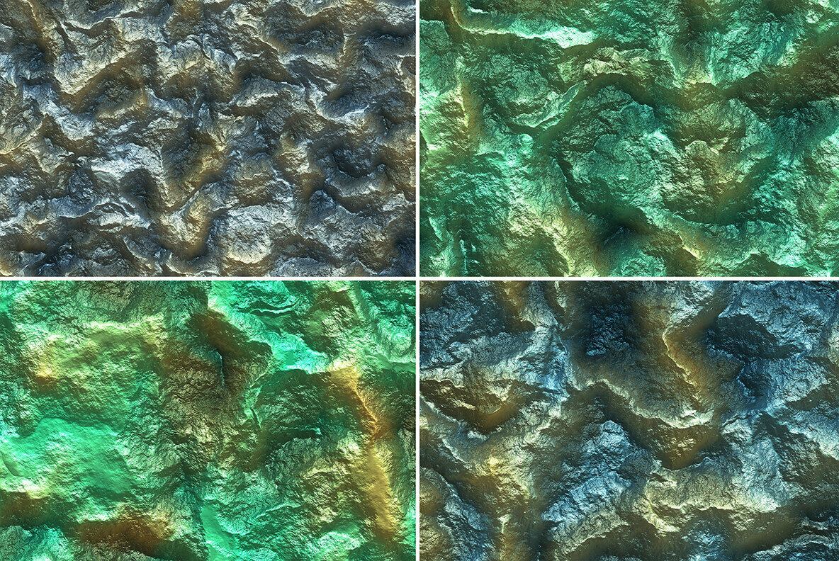 20 Metal Mineral Wall Background Textures