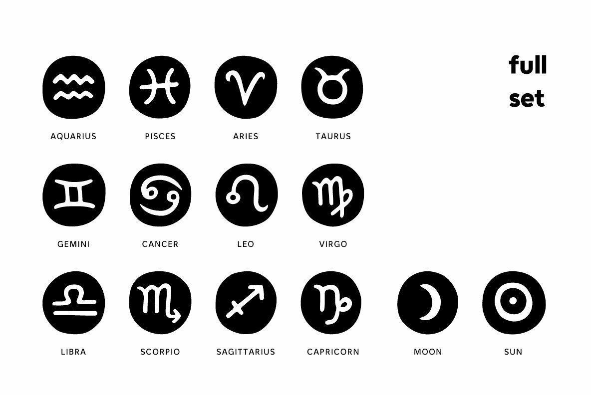 Starsigns Astrology Symbols
