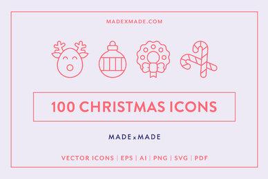 Line Icons     Christmas